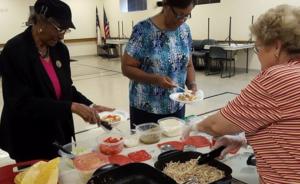 participants serving food