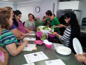 EFNEP participants at a food demo
