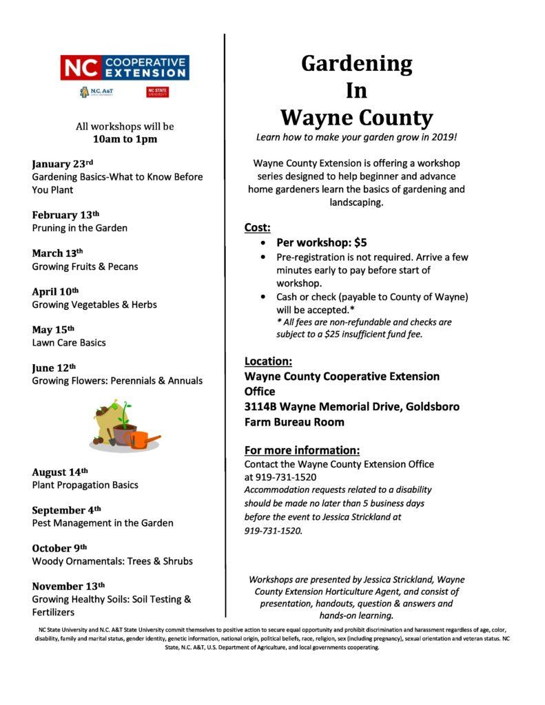 Gardening in Wayne County flyer image