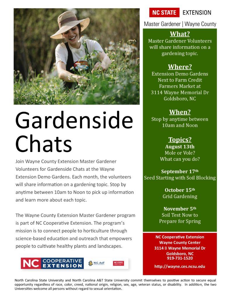 2021 Gardenside Chats Flyer